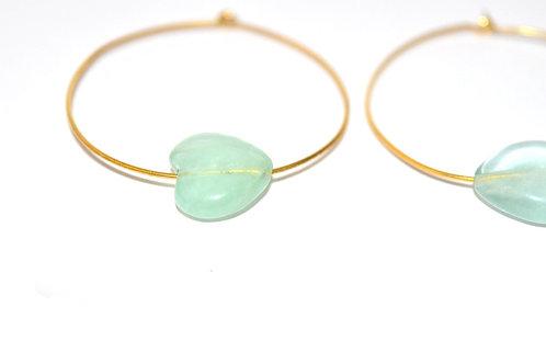 Ha Earring - Aquamarine Gemstone