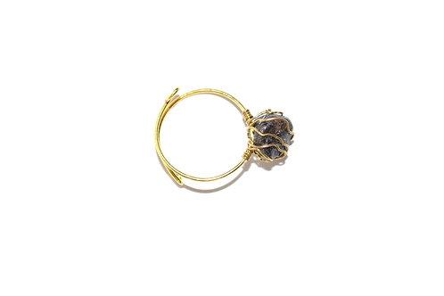 Mudra Ring - Garnet Gemstone