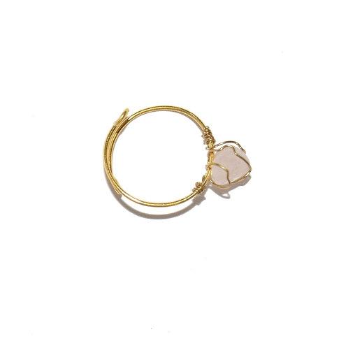 Mudra Ring - Rose Quartz Gemstone
