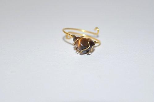 Mudra Ring - Tiger Eye Gemstone
