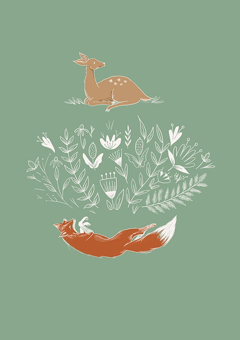 Pippy & Co.   Renard & Friends Illustration - Green
