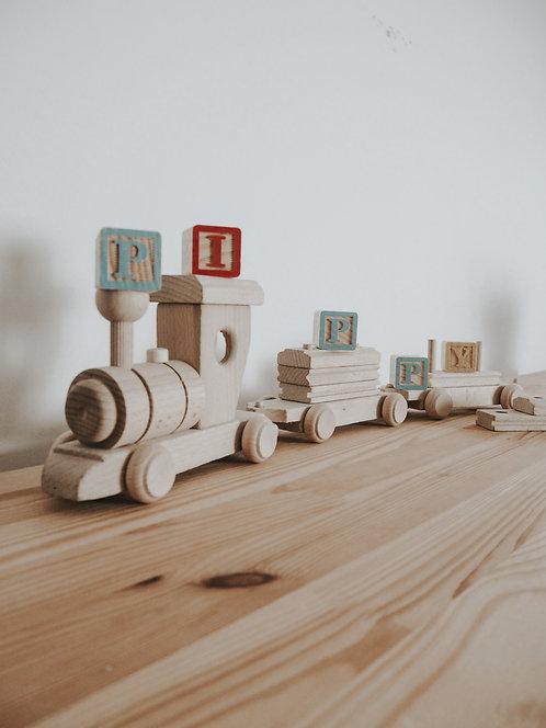 Choo Choo | Wooden Train & Carriage