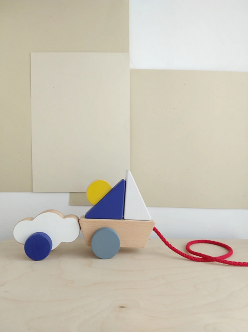 The Wandering Workshop | Boat & Cloud Pull Toy