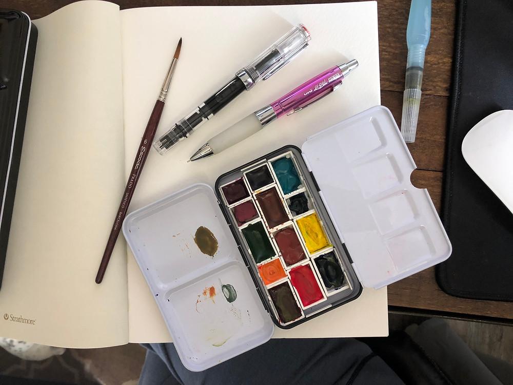 watercolor materials for sketching alicia kidd