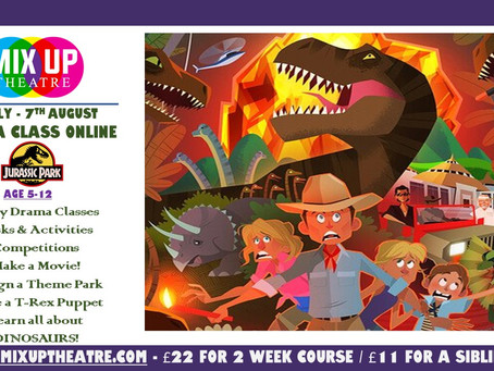 Jurassic Park: SUMMER ONLINE PROJECT - 27th July - 7th August