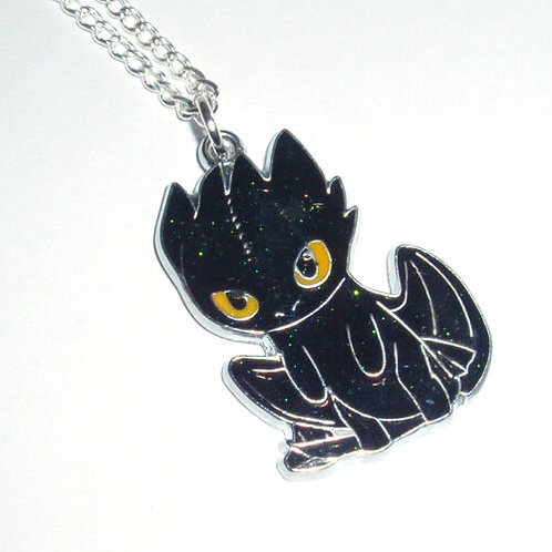 How to Train Your Dragon - Toothless Charm Necklace