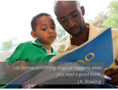 I do believe something magical happens when you read a good book. -J.K. Rowling