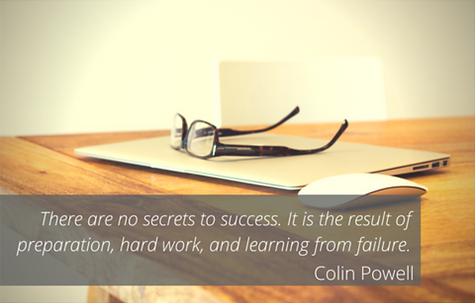 There are no secrets to success. It is the result of preparation, hard work, and learning from failure. - Coline Powell