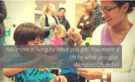 You make a living by what you get. You make a life by what you give. -Winston Churchill