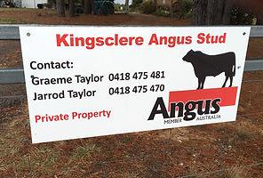 Kingsclere Angus Stud Signage