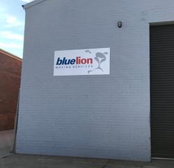 Blue Lion Signage