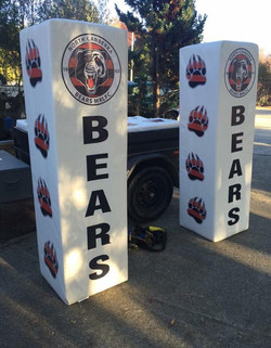 Canberra Bears Goal Post Pads