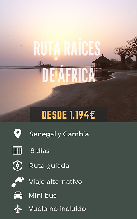 RUTA RAÍCES DE ÁFRICA - SENEGAL Y GAMBIA