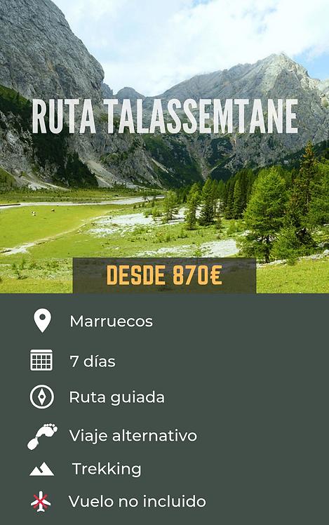 RUTA TALASSEMTANE - MARRUECOS