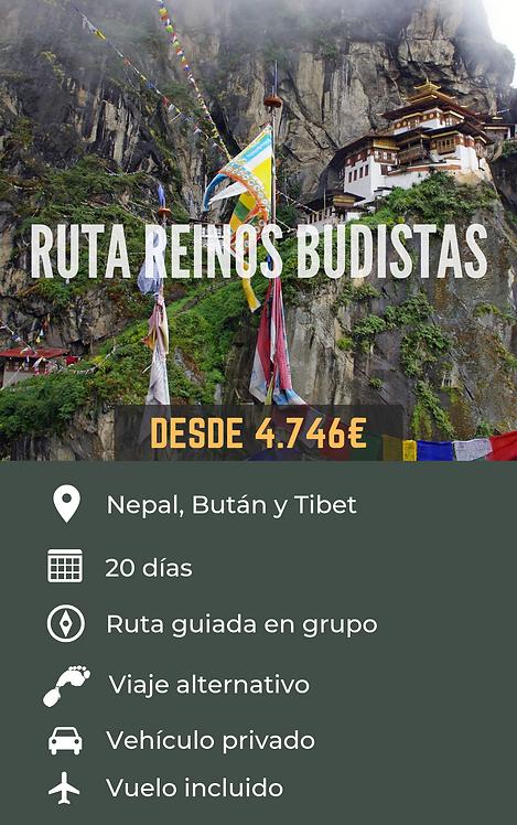 RUTA REINOS BUDISTAS - NEPAL, BUTÁN Y TIBET