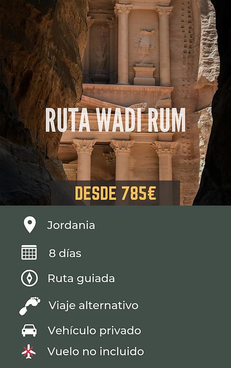 RUTA WADI RUM - JORDANIA