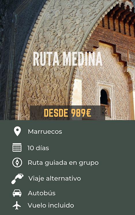 RUTA MEDINA - MARRUECOS