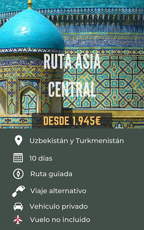 RUTA ASIA CENTRAL - UZBEKISTÁN Y TURKMENISTÁN