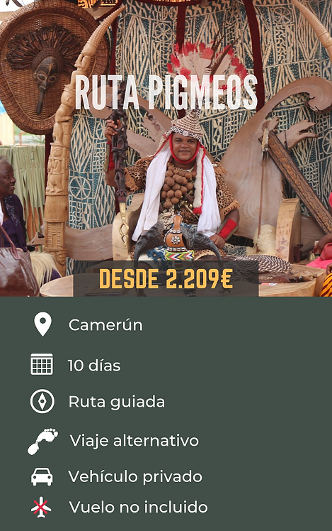 RUTA PIGMEOS - CAMERÚN