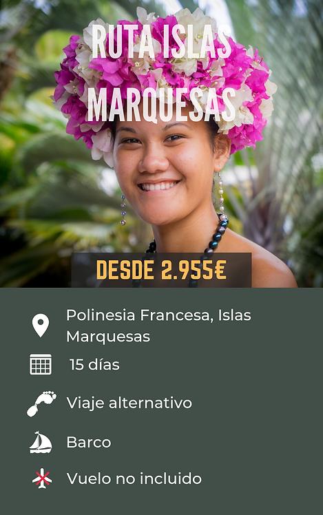 RUTA ISLAS MARQUESAS - POLINESIA FRANCESA