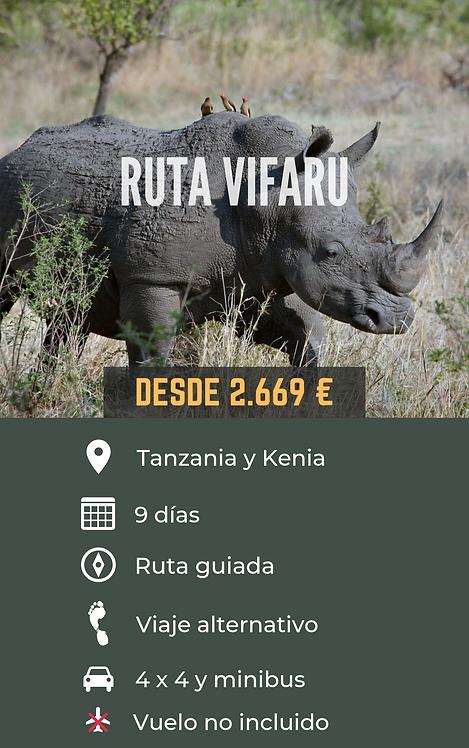 RUTA VIFARU - TANZANIA Y KENIA