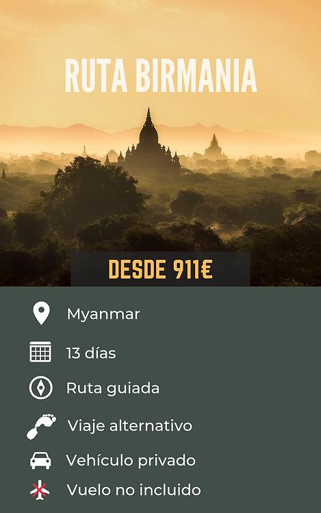 RUTA BIRMANIA - MYANMAR