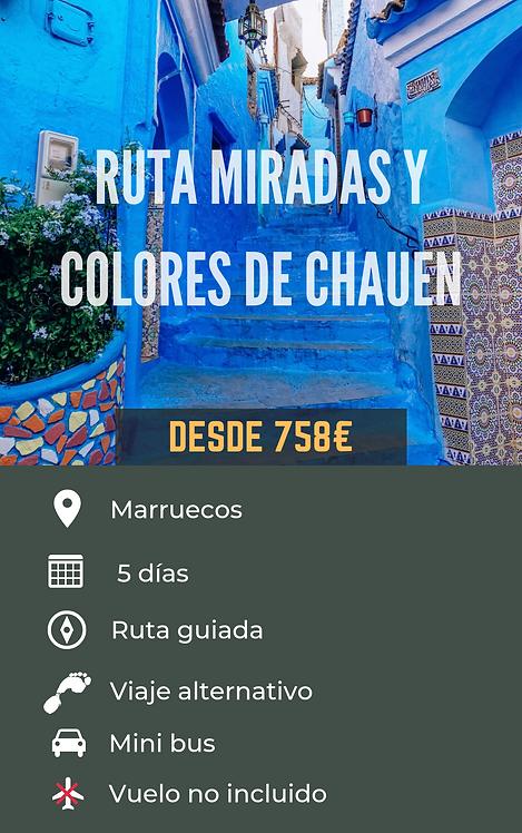 RUTA MIRADAS Y COLORES DE CHAUEN - MARRUECOS