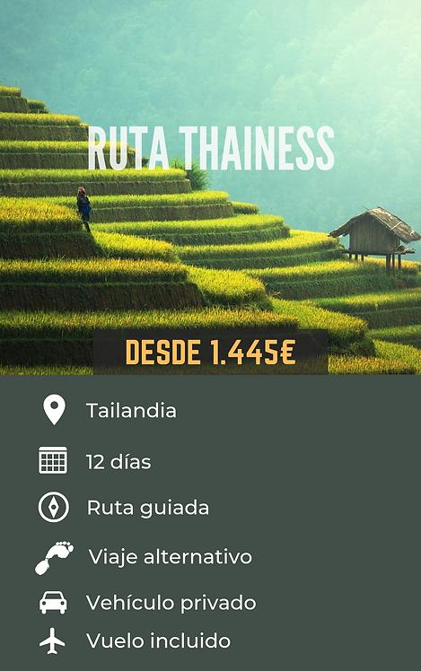 RUTA THAINESS - TAILANDIA