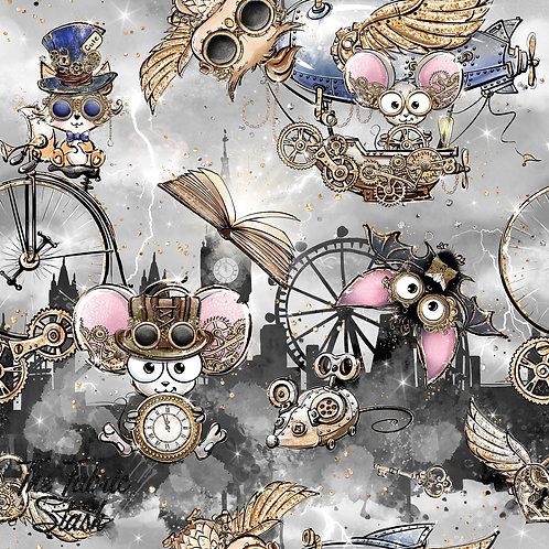 Steampunk London Grey