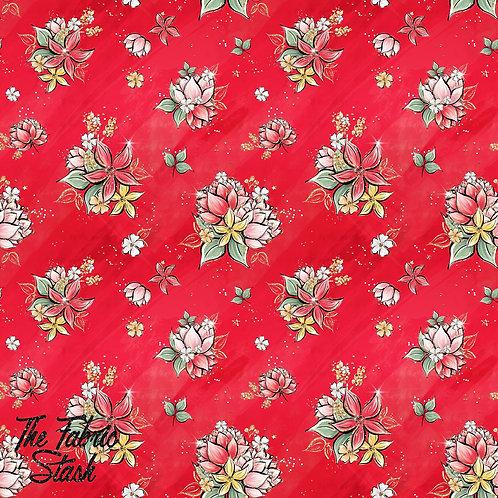 Ladybug Floral Red