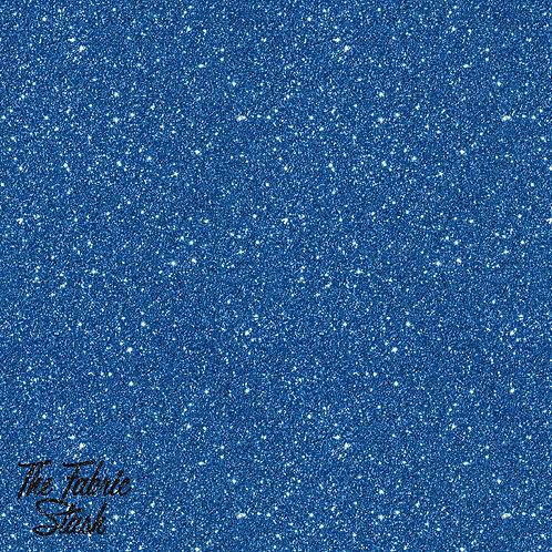 Glitter Blue - Cotton Twill (woven)