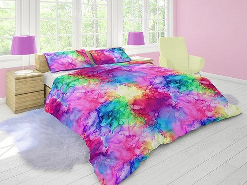 Rainbow Alcohol Ink - 250cm Wide Cotton Sateen