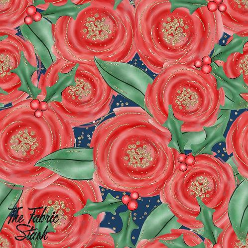 Glitter Rose - Cotton Twill (woven)