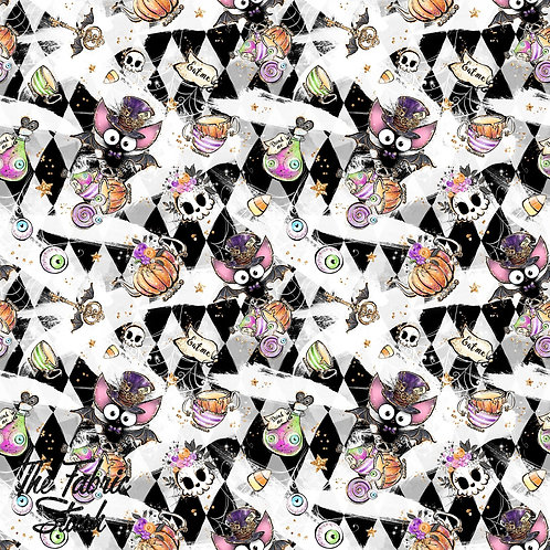 Wonderland Bats - Cotton Canvas