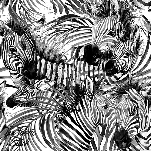 Zebras - Double Brushed Poly 84cm