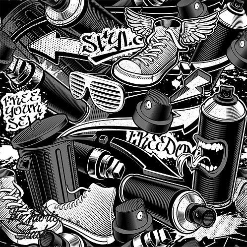 Monochrome Spraycans - Boardshort (peachskin)
