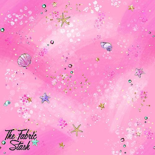 Mermaid Tale Pink Background