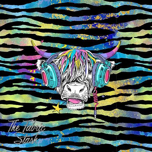 Hairy Cow Blue - Kids Size Panel - Swim