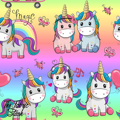 Cool Cute Unicorns - Cotton Lycra 220gsm