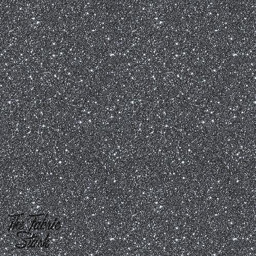 Glitter Black - Cotton Twill (woven)