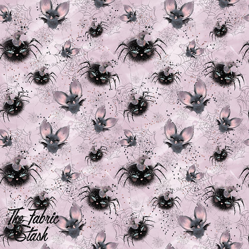 Spooky Spiders - Cotton Canvas