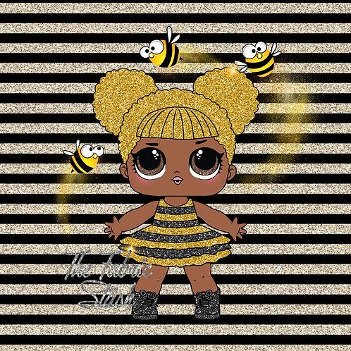 Queen Bee - Kids Size Panel - Swim