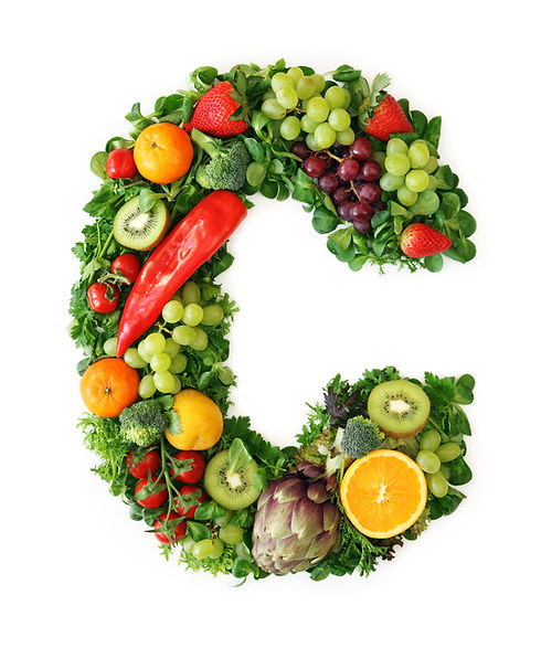 Fruit and vegetable alphabet - letter C.
