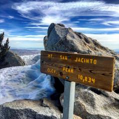 San Jacinto Peak sign