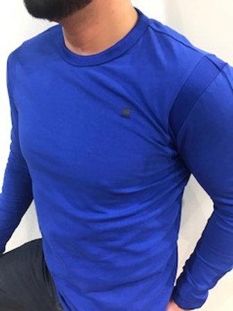 Chandail bleu royal manches longues G-Star