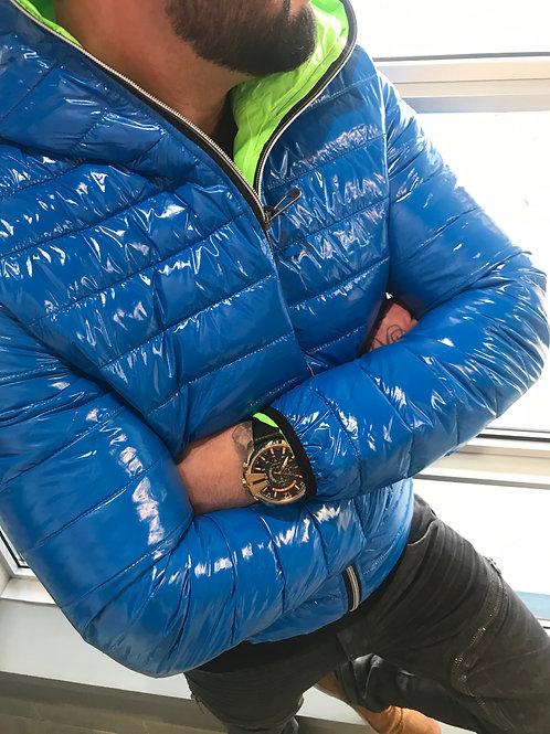 Manteau matelassé bleu royal Noize