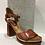 Thumbnail: Sandale talon carré en cuir  MJUS