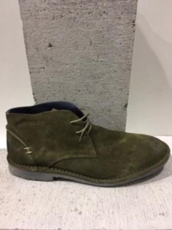 Chaussure kaki en suède BUNKER