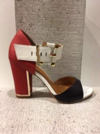 Sandale noire, rouge et blanche Only