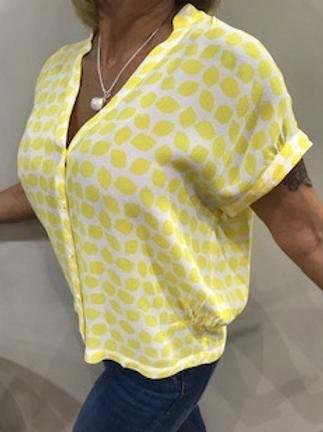 Blouse femme ample blanc et jaune Zilch
